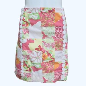 Lilly Pulitzer Patch Print Skirt 14 / XL